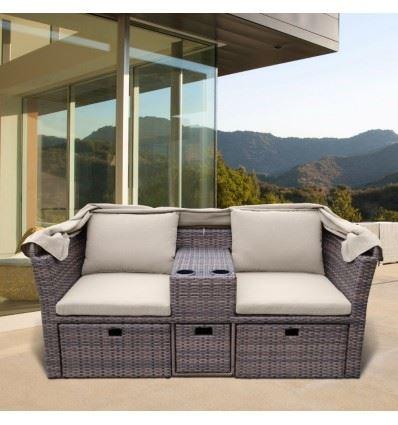 Комплект плетеной мебели AFM-330B Brown